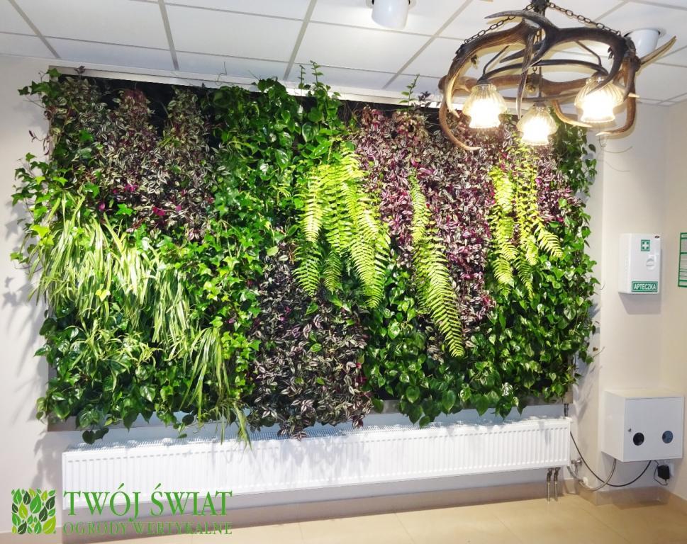 OGRÓD WERTYKALNY W NADLEŚNICTWIE  Ogrody wertykalne - zielone ściany, florafelt
