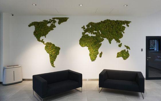 mapa swiata z mchu poduszkowego